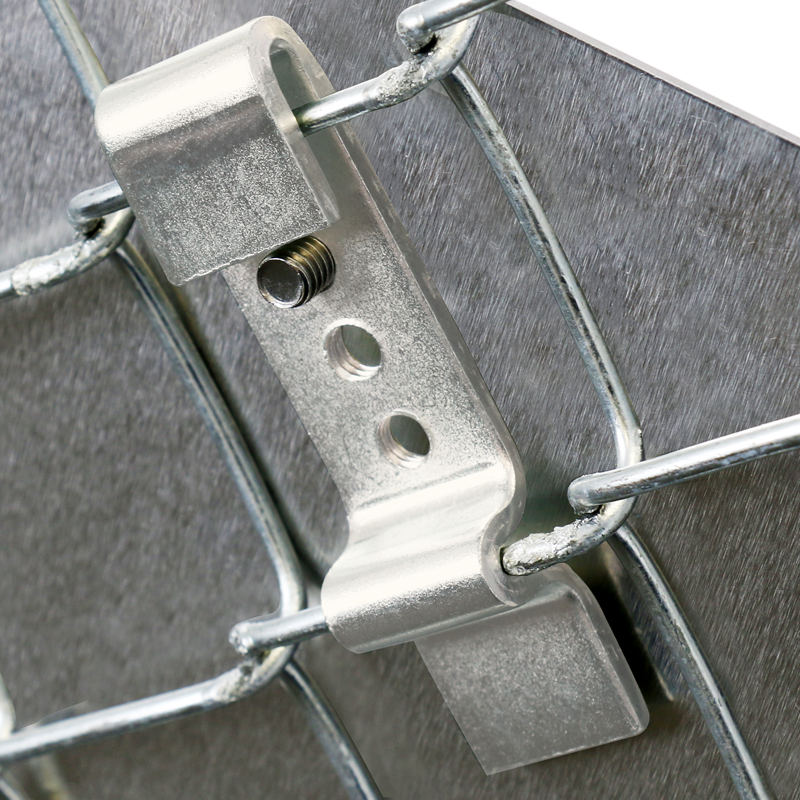 Sign clips for chain link fence pair bracket sku