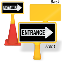 Entrance Right Arrow ConeBoss Sign