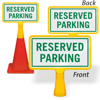 Reserved Parking ConeBoss Sign
