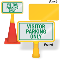 Visitor Parking Only ConeBoss Sign