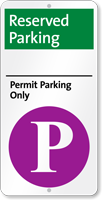 Reserved Permit Parking Only iParking Sign