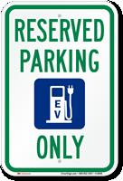 EV Reserved Parking Sign