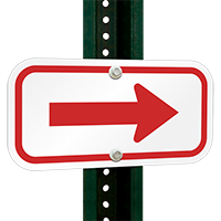 Arrow Sign (red)
