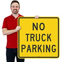 NO TRUCK PARKING Sign