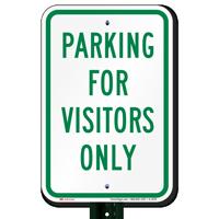 Parking Visitors Only Sign