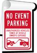 No Event Parking Sign Book