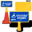 Accessible Entrance Left Arrow ConeBoss Sign