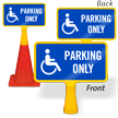 Handicapped Parking Only ConeBoss Sign