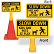 Kids And Pets At Play ConeBoss Sign