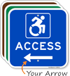 Access Sign with Left Arrow