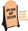 Add Custom Text And Upload Design Sidewalk Sign