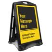 Add Message And Custom Description Sidewalk Sign
