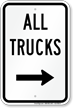 All Trucks Driveway On Right Sign