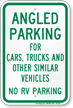 Angled Parking No RV Parking Sign