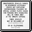 Custom California Custom Handicap ADA Sign