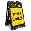 Caution Uneven Surface Sidewalk Sign