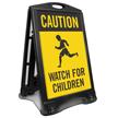 Caution Watch For Children Sidewalk Sign