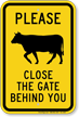 Close The Gate Behind You, Cow Symbol Sign