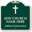 Custom Designer Church Parking Sign