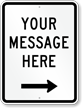 Customizable Parking Message Sign, Right Arrow