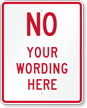 Customizable Parking Prohibition Message Sign