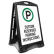 Custom Reserved Parking Sidewalk Sign Insert