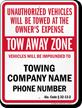 Custom Alabama Tow-Away Sign