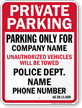 Custom Alaska Tow-Away Sign