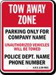 Custom Arizona Tow-Away Sign