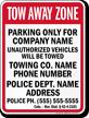 Custom Colorado Tow-Away Sign