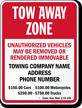 Custom Connecticut Tow-Away Sign