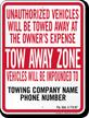 Custom Florida Tow-Away Sign