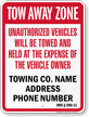 Custom Hawaii Tow-Away Sign