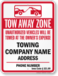Custom Iowa Tow-Away Sign