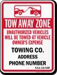 Custom Kansas Tow-Away Sign