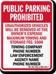 Custom Missouri Tow-Away Sign