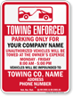 Custom Nebraska Tow-Away Sign