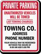 Custom New York Tow-Away Sign