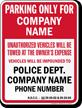 Custom North Dakota Tow-Away Sign