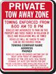 Custom Ohio Tow-Away Sign