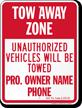 Custom Pennsylvania Tow-Away Sign