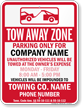 Custom Tennessee Tow-Away Sign