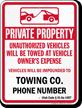 Custom Utah Tow-Away Sign