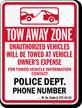 Custom West Virginia Tow-Away Sign