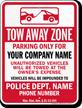 Custom Wyoming Tow-Away Sign