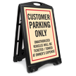Customer Parking Only Sidewalk Sign Kit