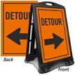 Detour Sidewalk Sign Kit