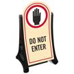 Do Not Enter Portable Sidewalk Sign Kit