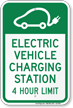 Electric Vehicle Charging Station Hour Limit Sign