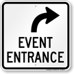 Event Entrance Upper Right Arrow Sign